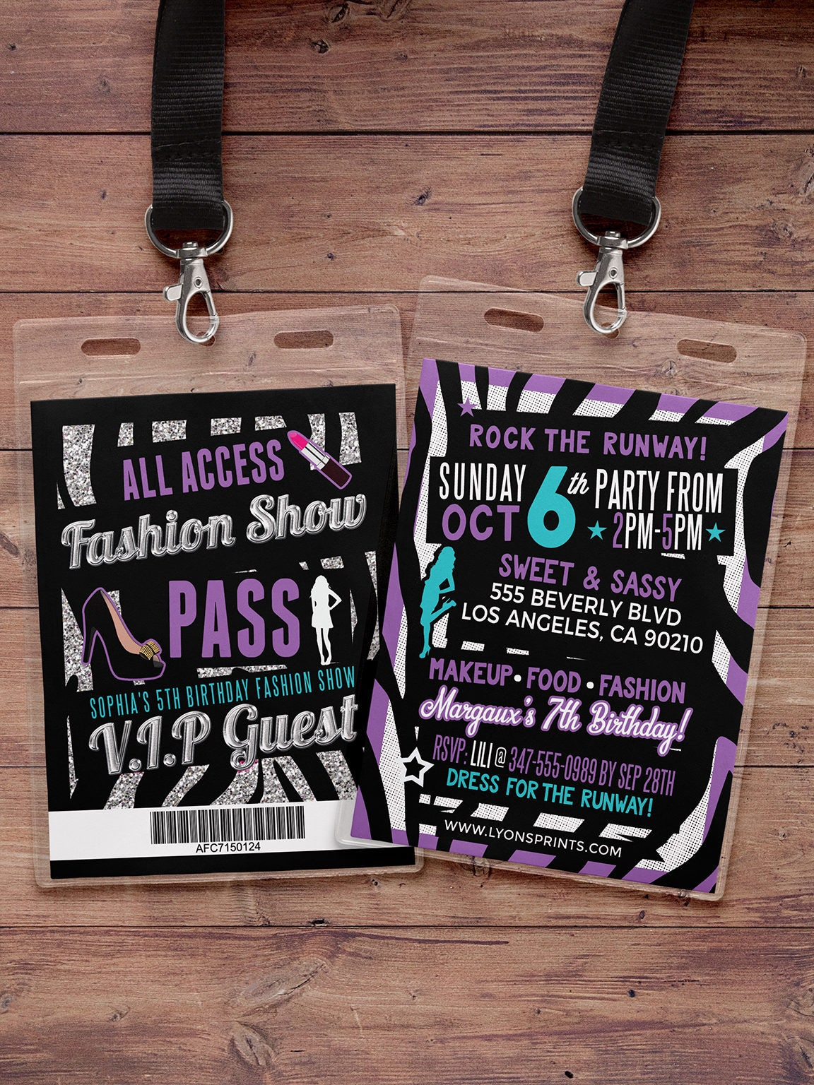 Rock the Runway, ticket birthday party invitation- popstar ...