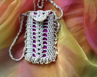 pouch cell phone for I-phone fringe sides #iswlook