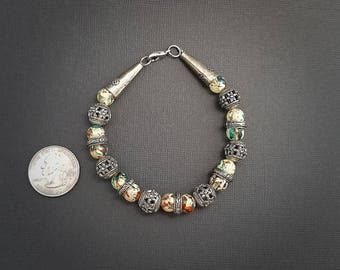 Multicolor Glass Bead Bracelet