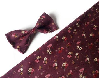 burgundy skinny ties groomsmen ties wedding outfit for ring bearer outfit for groom marsala floral bow tie gift father gift girlfriend dnfb7