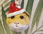 Hamster Head Christmas Bauble