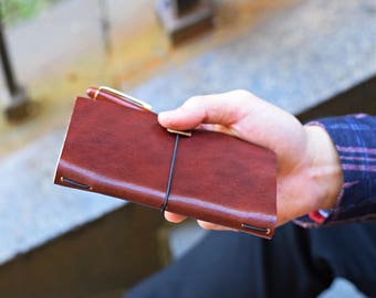 Leather notebook cover, Field Notes, leather notebook sleeve, leather field notes cover, Moleskine Cashiers cover, Field Notes notebook