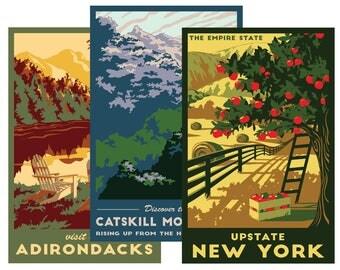 """Pick Any Three 11x17"""" NY Travel Posters- Bulk Discount Gift Set"""