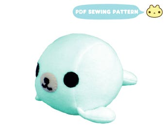 Seal Pattern, Sewing Pattern, Baby Seal Pattern, Toy Sewing Pattern, Sea Animal Pattern, Softie Pattern, Plushie Pattern, Soft Toy Pattern