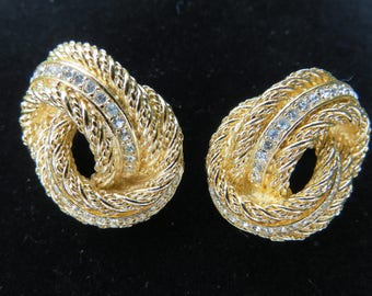 Christian Dior Knot Rope Earrings
