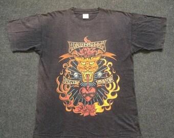 ON SALE 26% Vintage Aerosmith Nine Lives Rock Band 90s Tour Promo Original T Shirt