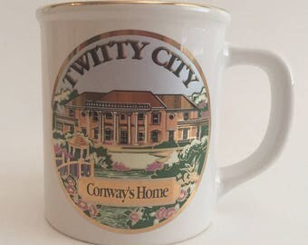 Vintage Twitty City Coffee Mug Cup Conway Twitty Made in Japan