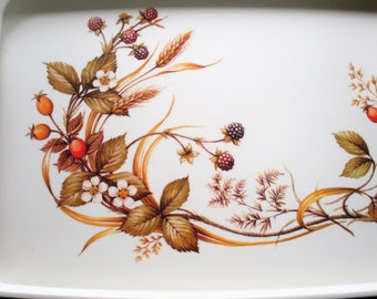 Vintage Marks and Spencer Harvest Tray, Melamine Tray, M&S, Country Kitchen, Replacements, 1980s