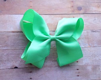 Big baby bow, mint green hair bow, boutique bow, alligator clip, best selling items, smash cake bow, birthday bow, toddler bow, girl gift
