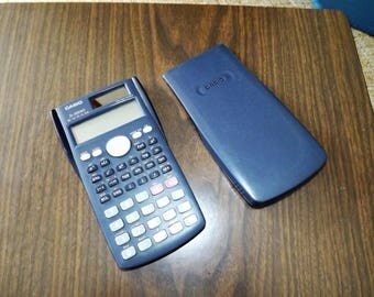 Vintage Calculator, Solar Calculator, Casio, Pocket Calculator, Vintage Electronics, Scientific, calculator case, Electronic Calculator