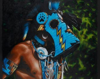 "Canvas Print of ""Slick Style"" by Oklahoma Cherokee Artist Bryan Waytula"