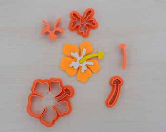 Hibiscus Fondant Cutter Set with Plungers