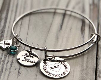 Our Son Picked You Personalized Adjustable Wire Bangle Bracelet