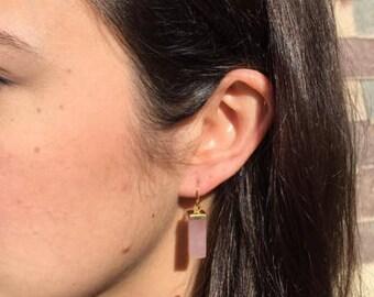 Rose Quartz Dangle Earrings