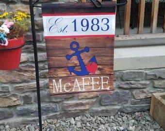 Anchor garden flag- Boating garden flag