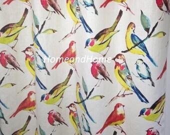 "SALE 50"" Two Rod pocket Curtain drapery panels Hight end designer 50 x 84 Richloom Birdwatcher Summer Charcoal Meadow"