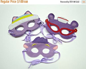 Clearance, mask for kids, kids costume, embroidery, felt,