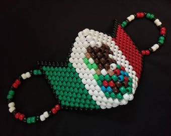 Mexican Flag Kandi Mask