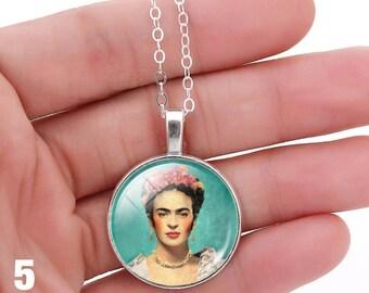 Frida Kahlo Necklace, Feminists Artist Jewelry, Art Pendant,Frida Kahlo Jewelry Inspiring Woman Necklace,Frida Kahlo Gift
