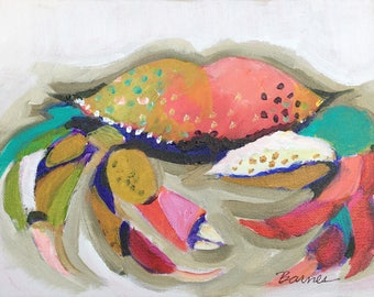 Oh My Crab/Original Acrylic by Diana Barnes