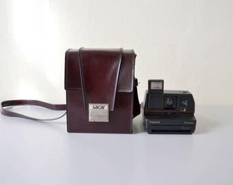 Vintage Polaroid IMPULSE portrait / leather carrying case SACAR