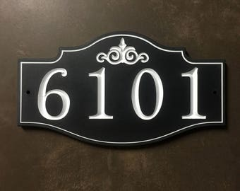Victorian House Number Sign