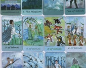 Fiery-Airy Wands Tarot: mix & match classic-size deck, made to order
