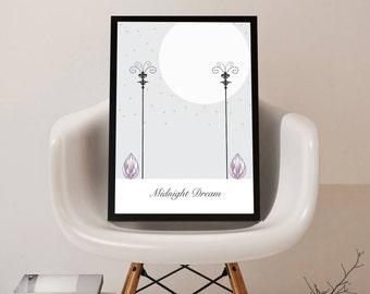 Midnight dream wall print