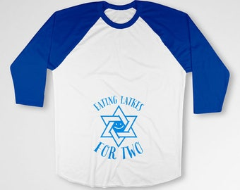 Hanukkah Pregnancy Reveal Shirt Maternity Announcement Gift Ideas Jewish Pregnancy Gifts For Expecting Mom Chanukah Gifts Raglan TEP-514