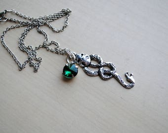 Dark Mark Necklace -- Harry Potter Inspired -- Voldemort -- Slytherin -- Geek Chic, Nerd Fashion -- Fandom Fashion -- Harry Potter Jewelry