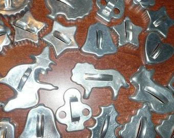 Vintage Aluminum Full Imprint Cookie Cutters Assorted Themes