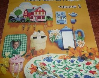 Vintage american School  Of Needlework Easy To Make Plastic Canvas Projects Volume 2