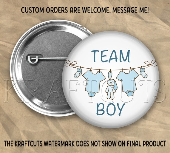 Team Boy #19 Pinback Flatback or Magnet