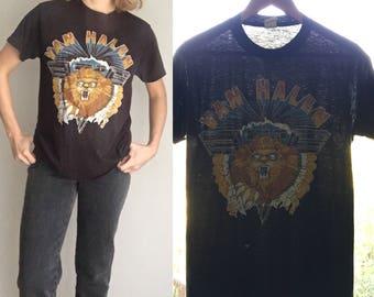 Vintage Van Halen Shirt T Shirt 1982 Diver Down Tour Hide Your Sheep Concert Tee 1980s Paper Thin M