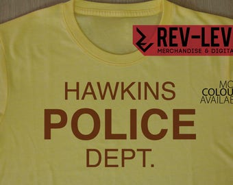 Stranger Things Hawkins Police Department T-Shirt - Inspired by Netflix Stranger Things Hawkins PD Tee by Rev-Level