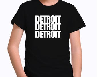Detroit three words Children T-Shirt
