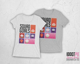 Overwatch Pachimari Squad Goals T-shirt (Men / Women Sizes)