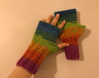 Fingerless gloves, Women, Wholesale Knit Fingerless gloves, Knitted Fingerless, Boho Gloves, Winter gloves, Winter Accessories, Colorful