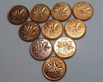10 1963 Canada Cents Elizabeth II