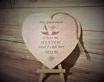 Handmade Personalised Plaque ( My Guardian Angel )