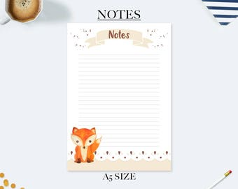 Back to school gifts for kids, to do list notepad, student planner, desk accessories, teacher appreciation gift, a5 planner inserts, fox