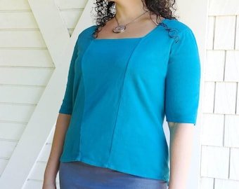 Square Neck Top - Hemp, Organic Cotton, Hand Dyed Women's Top