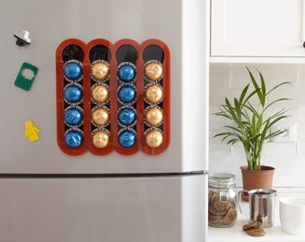 Nespresso Vertuoline Red Coffee Pod Holder ,Magnetic Kitchen Organizer, Kitchen Accessory Design, Wall Mount Storage, Kitchen Decor Gift