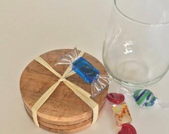 Solid Birdseye Maple Coasters (set of 4)
