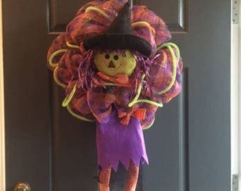Witch Wreath, The Witch Is In, Halloween Witch, Halloween Wreath,