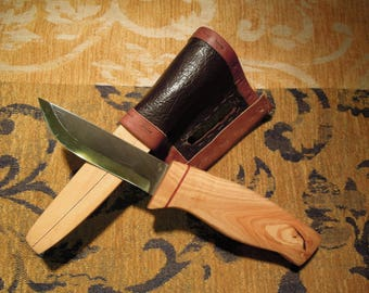 Nordic knife Karesuando blade 3.34 in olive wood handle