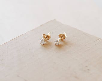 E1135- 14/20 Gold Filled Cubic Zirconia Tiny Studs