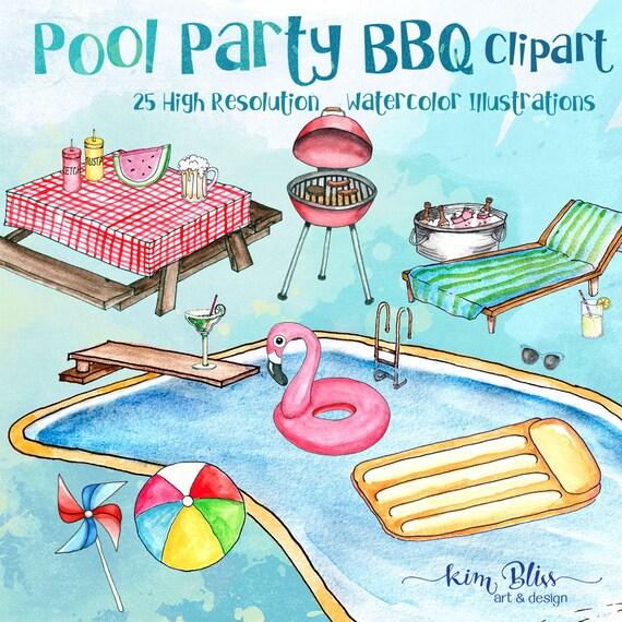 Clip Art Pool Party Bbq Clipart Summer Clip Art 25