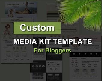 Custom Media Kit Template for Bloggers Blog, Custom Press Kit for Your Business, Electronic Press Kit for Bloggers, Custom Blog Media Kit