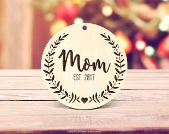 Parents Christmas gift Mom Ornament Custom Ornament New Mom Ornament Mom Christmas Gift Pregnancy Announcement Ornament Mom Xmas Ornament 67